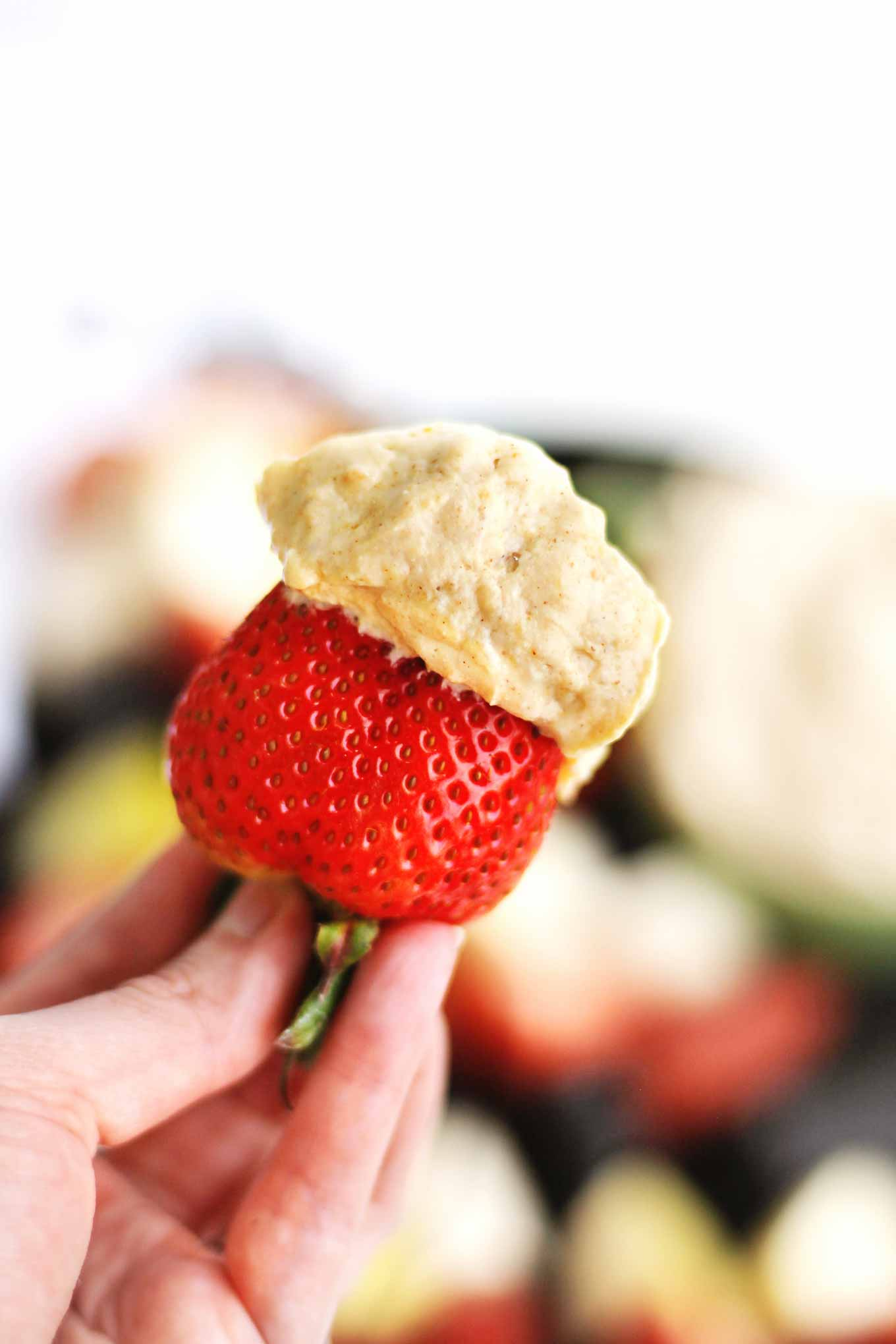 strawberry with dip