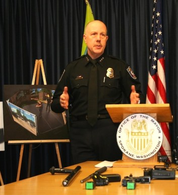 SPD Chief Frank Straub at a use of force briefing last year.