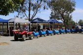 Neil Druce leading the Barrel Train at the Junee Licorice & Chocolate Factory