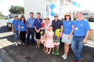 Paul and Sharon from Hotondo Homes, with the Hart family and the team from Make-A-Wish Australia