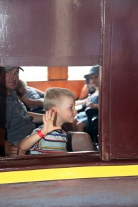 Talk to the hand! I'm too busy viewing all the sights at the 2017 Junee Rhythm n Rail Festival