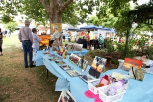 Picturesque! Just one of the many stalls to be seen at the Junee Rhythm n Rail Festival Markets