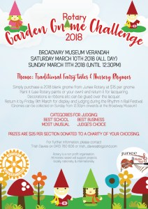 Rotary Garden Gnome Challenge 2018 Poster