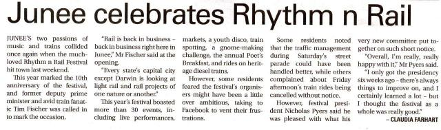 Junee celebrates Rhythm n Rail
