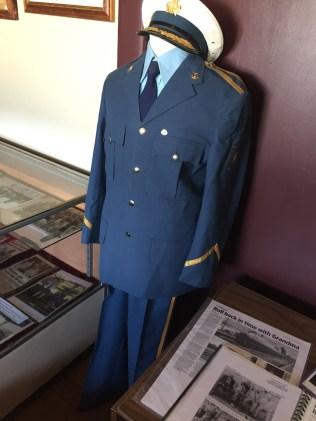 Former NSW Railway Uniform on display at Broadway Museum