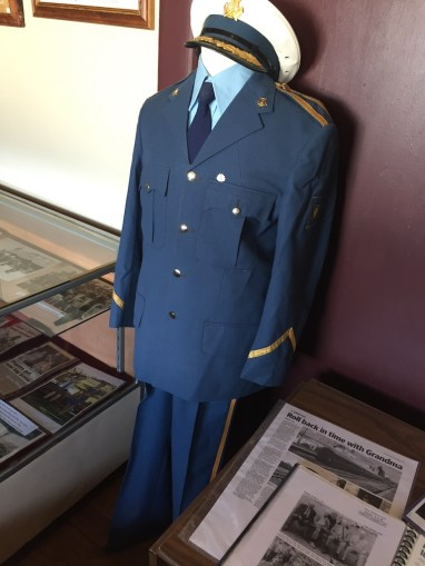 Former NSW Railway Uniform on display at Broadway Museum