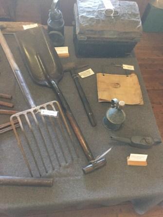 Heritage Railway Tools on display at Broadway Museum