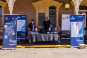 ARTC Inland Rail Information Stand in Rail Precinct