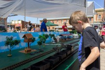 Small World G-Scale Model Train Layout on display in the Rail Precinct