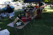 Hand crafted items created by the Junee Men's Shed on sale at the Festival Markets