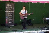 Harry Cleverdon performing live on the Main Stage at the Festival Markets