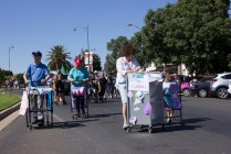 Junee Street Parade Entrants -- Trollies with Lollies by the Junee Library