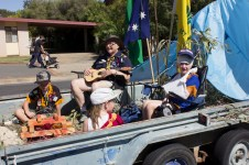 Junee Street Parade Entrants and People's Choice Award Winners -- 1st Junee Scouts