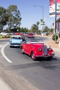 Junee Street Parade Entrants from the Junee Motor Club