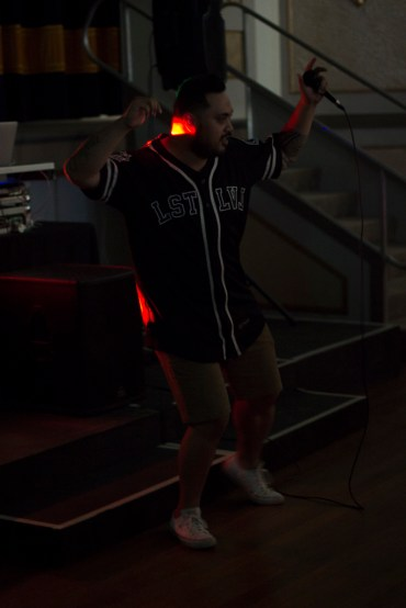 DJ Centennial performing at the Junee Youth Council's Disco