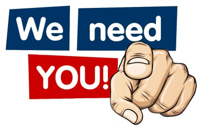 We Need YOU!!! — Yes, You!