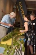 Natalie Phillips viewing the Model Train Layout [2015 Rhythm n Rail]