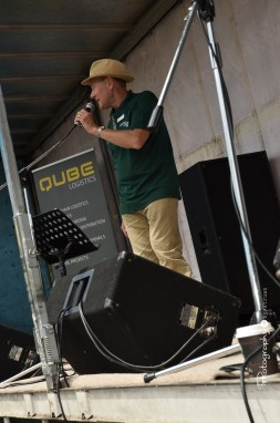 Neil Smith making an announcement on the Main Stage [2015 Rhythm n Rail]