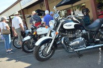 Admiring the Classic Motorcycles on display on Broadway [2015 Rhythm n Rail]