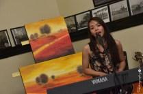 Live performance in the Railway Station Café Junee [2015 Rhythm n Rail]