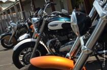 Classic Motorcycles on display along Broadway [2015 Rhythm n Rail]