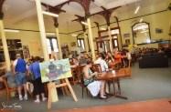 Enjoying a meal at the Junee Railway Station Café [2016 Rhythm n Rail]