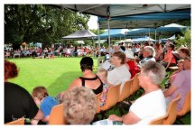 Crowds relaxing listening to the Live Performances on the Main Stage in Memorial Park [2016 Rhythm n Rail]