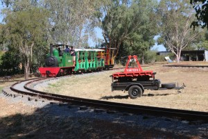 Steam Train operating at Pete's Hobby Railway over the 2018 Rhythm n Rail Festival weekend
