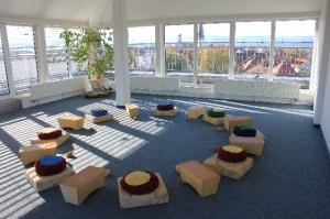 Kursraum RhythMusik Über den Dächern von Weilheim