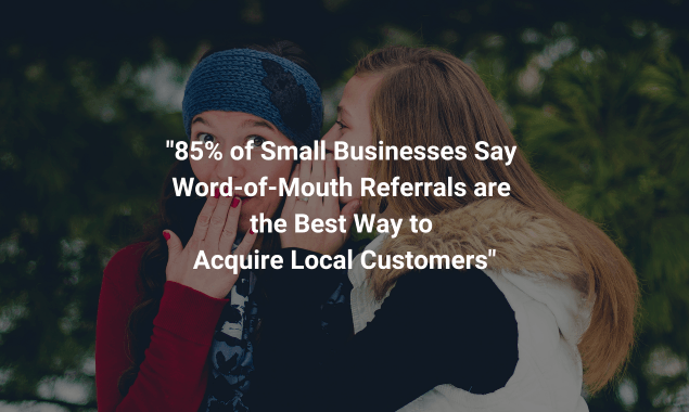 Word of Mouth Referrals Statistic