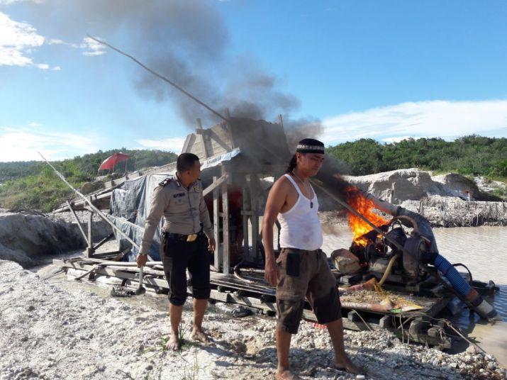 Meresahkan, Polisi Razia Penambang Emas Ilegal di Kuantan
