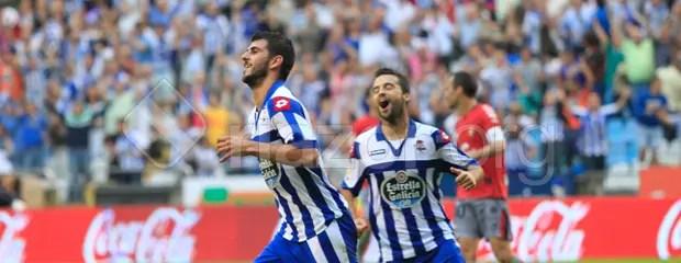 Nelson Oliveira celebra su gol ante Osasuna