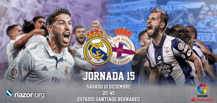Jornada 15 Liga Santander Real Madrid Deportivo de La Coruña