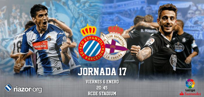 Jornada 17 Liga Santander RCD Espanyol Deportivo de La Coruña