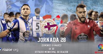 Jornada 28 Liga Santander Deportivo de La Coruña Celta de Vigo