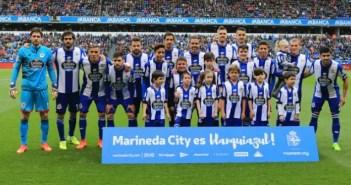 Foto once inicial Deportivo vs Barcelona
