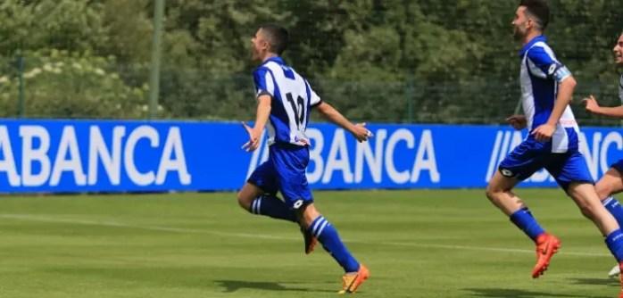 Sergio Ortu Celebración Juvenil A vs Osasuna