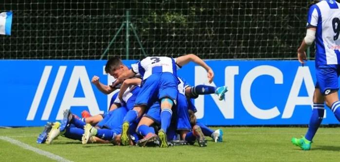 Juvenil A celebración gol vs Osasuna