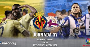 Jornada 37 Liga Santander Villarreal Deportivo de La Coruña