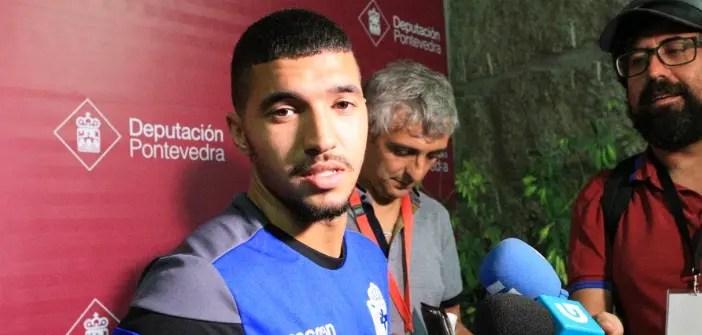 Zakaria Bakkali en rueda de prensa tras el partido contra el Pontevedra
