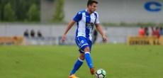 Gerard Valentín en el Cerceda - Deportivo de pretemporada
