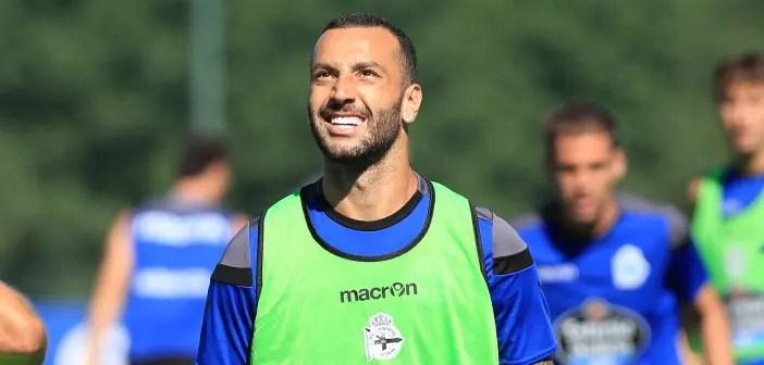 Guilherme primer plano entrenamiento del Deportivo Coruña del 28 de julio