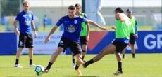 Gerard Valentín entrenamiento del Deportivo Coruña del 28 de julio