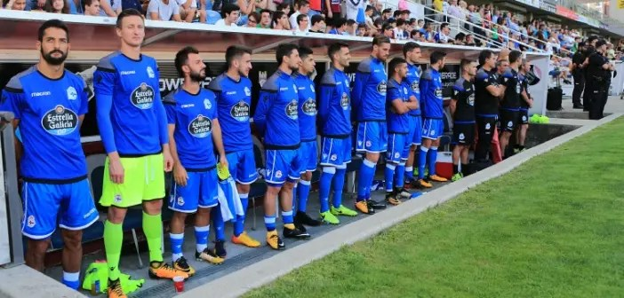Banquillo del amistoso Pontevedra vs Deportivo