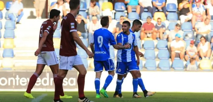 Bakkali agradeciendo a Fede Cartabia en amistoso contra Pontevedra