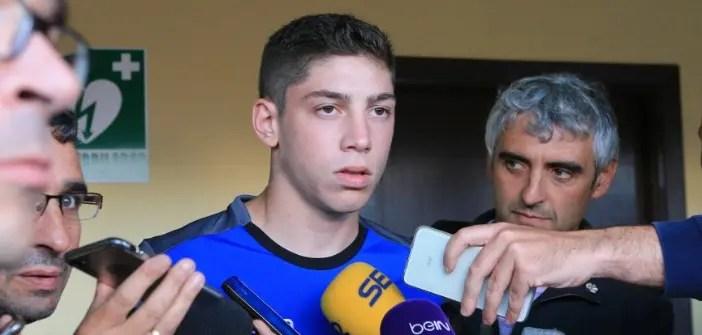 Fede Valverde en rueda de prensa esta pretemporada