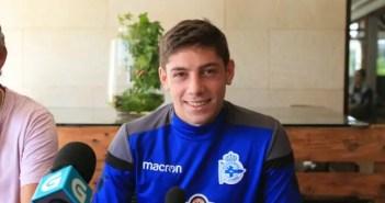 Fede Valverde en rueda de prensa en Vilalba