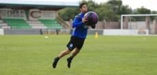 Bicho con balón medicinal en entrenamiento Vilalba del 8 de agosto 2017