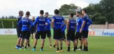 Entrenamiento jugadores Deportivo en entrenamiento Vilalba del 8 de agosto 2017