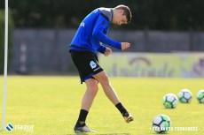 Fede Valverde entrenando en Vilalba